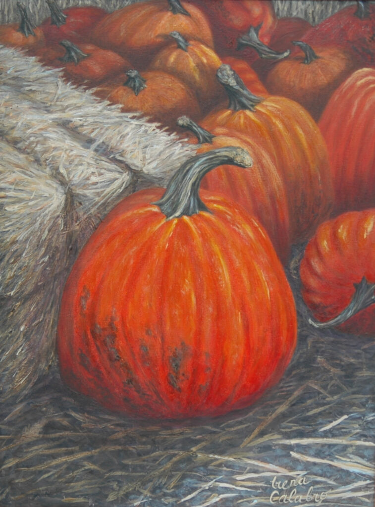 "Pumpkins. Acrylic on Canvas. 24x18"""