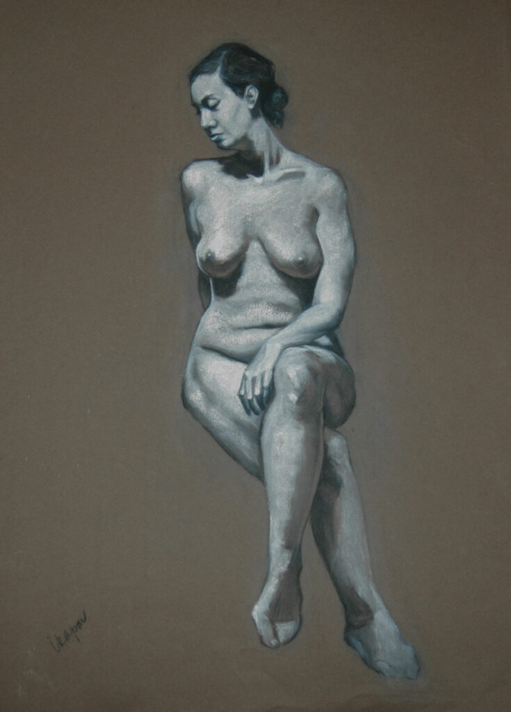 Woman Figure 1. Charcoal/Pastel on Paper. 24x18""