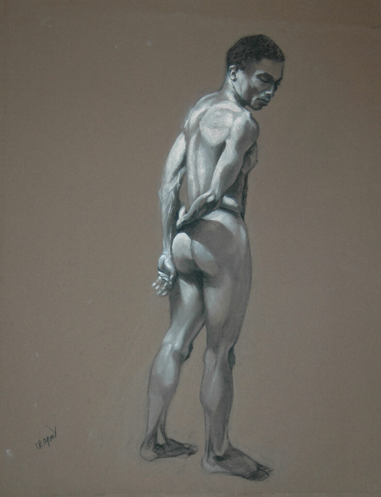 Young Man 2. Charcoal/Pastel on Paper. 24x18""